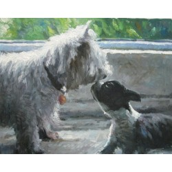Dog Oil Painting 32 - Art Gallery  Oil Painting Reproductions