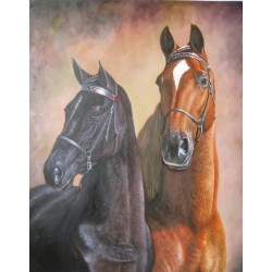 Horses Oil Painting 4 - Art gallery Oil Painting Reproductions
