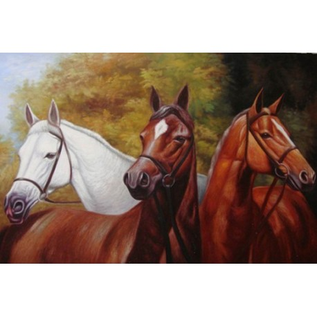 Horses Oil Painting 15 - Art gallery Oil Painting Reproductions