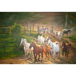 Horses Oil Painting 16 - Art gallery Oil Painting Reproductions