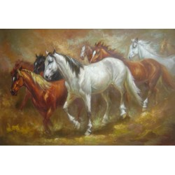 Horses Oil Painting 18 - Art gallery Oil Painting Reproductions