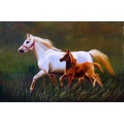 Horses Oil Painting 21 - Art gallery Oil Painting Reproductions