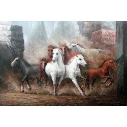 Horses Oil Painting 28 - Art gallery Oil Painting Reproductions