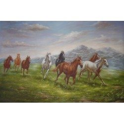Horses Oil Painting 31 - Art gallery Oil Painting Reproductions