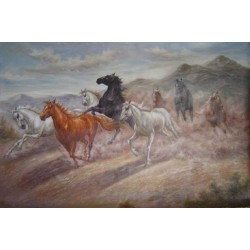 Horses Oil Painting 32 - Art gallery Oil Painting Reproductions