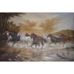 Horses Oil Painting 33 - Art gallery Oil Painting Reproductions