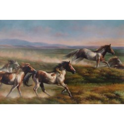 Horses Oil Painting 34 - Art gallery Oil Painting Reproductions