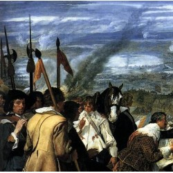 The Surrender of Breda detail 1, 1634-35 by Diego Velazquez - Art gallery oil painting reproductions
