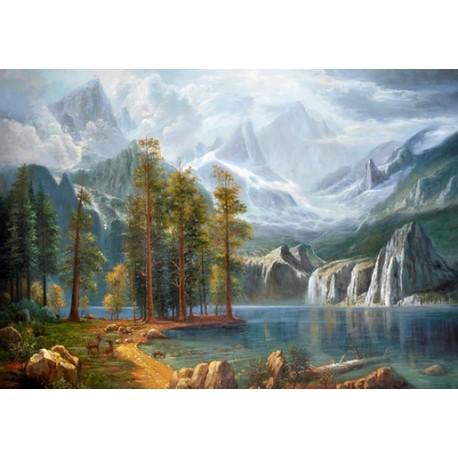 Sierra Nevada by Albert Bierstadt oil painting art gallery