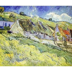 A Group of Cottages by Vincent Van Gogh - Art gallery oil painting reproductions