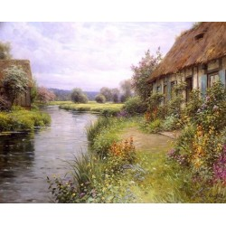 A Bend in the River - Art gallery oil painting