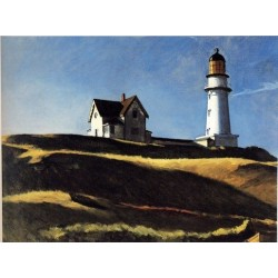 Lighthouse Hill - Art gallery oil painting