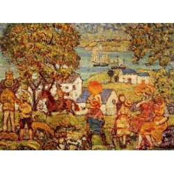 Landscape Figures by Maurice Prendergast - Art gallery oil painting