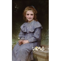 Daisies1894 by -William Adolphe Bouguereau - Art gallery oil painting reproductions