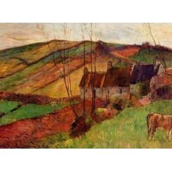 Cottages on Mount Sainte Marguerite by Paul Gauguin - Art gallery oil painting