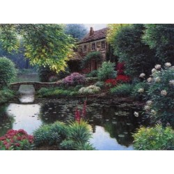 Somerset Bridge - Art gallery oil painting