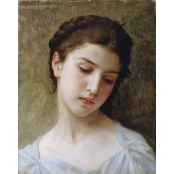 Head Of A Young Girl 1898 by William Adolphe Bouguereau - Art gallery oil painting reproductions