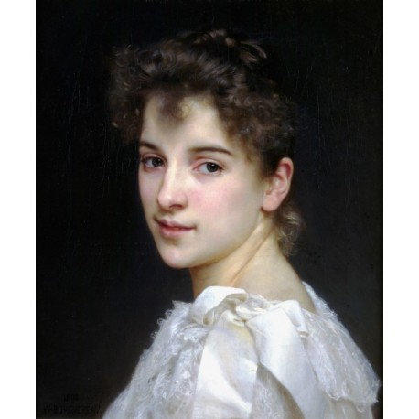 Gabrielle Cot 1890 by -William Adolphe Bouguereau - Art gallery oil painting reproductions