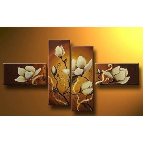 Brown Flowers III | Oil Painting Abstract art Gallery