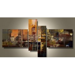 City Abstract II | Oil Painting Abstract art Gallery