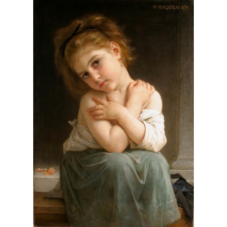La frileuse by William Adolphe Bouguereau - Art gallery oil painting reproductions