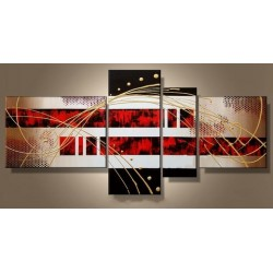 Black White & Red II | Oil Painting Abstract art Gallery