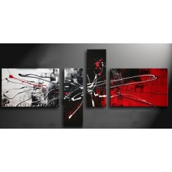 Black White & Red IV | Oil Painting Abstract art Gallery