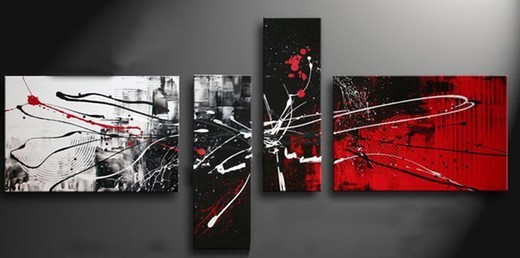 Black white oil painting reproductions