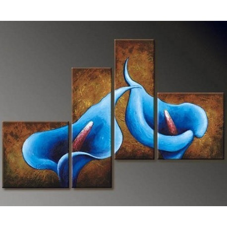 Blue Flowers | Oil Painting Abstract art Gallery