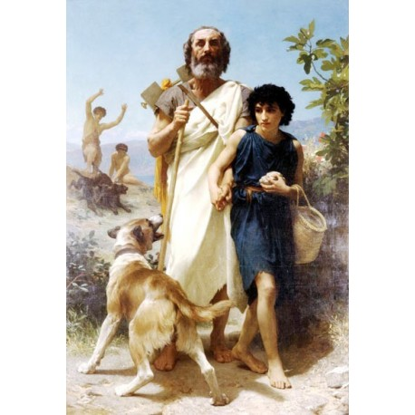 Homer and His Guide by William Adolphe Bouguereau - Art gallery oil painting reproductions