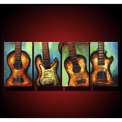 Guitars II | Oil Painting Abstract art Gallery
