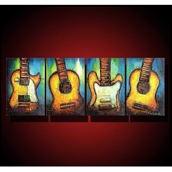 Guitars | Oil Painting Abstract art Gallery