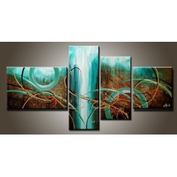 Teal Abstract III | Oil Painting Abstract art Gallery