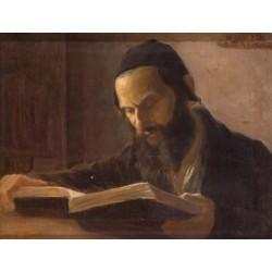 A Talmudic Scholar by Lazar Krestin | Jewish Art Oil Painting Gallery