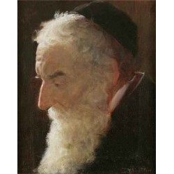 Portrait of a Rabbi 2 by Lazar Krestin | Jewish Art Oil Painting Gallery