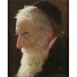 Portrait of a Rabbi 2 by Lazar Krestin | Jewish Art Oil Painting Gallery