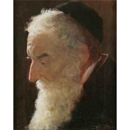 Portrait of a Rabbi 2 by Lazar Krestin   Jewish Art Oil Painting Gallery