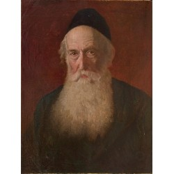 Portrait of a Rabbi III by Lazar Krestin | Jewish Art Oil Painting Gallery