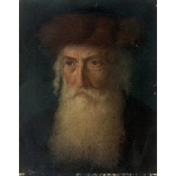 Portrait of a Rabbi by Lazar Krestin | Jewish Art Oil Painting Gallery