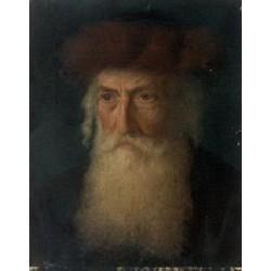 Portrait of a Rabbi by Lazar Krestin | Jewish Art Oil Painting Gallery