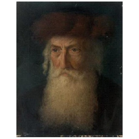 Portrait of a Rabbi by Lazar Krestin   Jewish Art Oil Painting Gallery