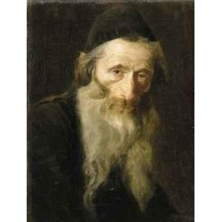Portrait of an Elderly Jew by Lazar Krestin | Jewish Art Oil Painting Gallery