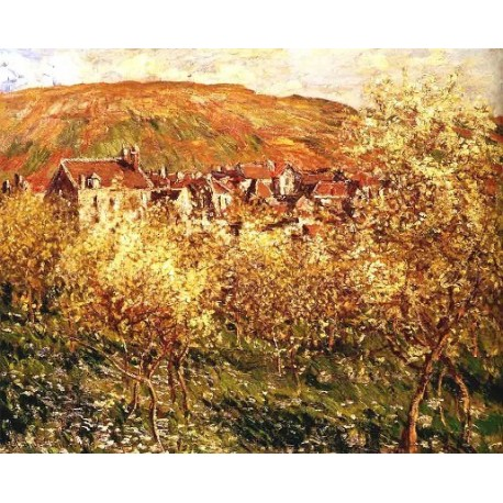 Apple Trees In Blossom by Claude Oscar Monet - Art gallery oil painting reproductions