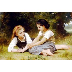 Les noisettes by William Adolphe Bouguereau - Art gallery oil painting reproductions