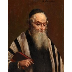Rabbi by Lazar Krestin | Jewish Art Oil Painting Gallery