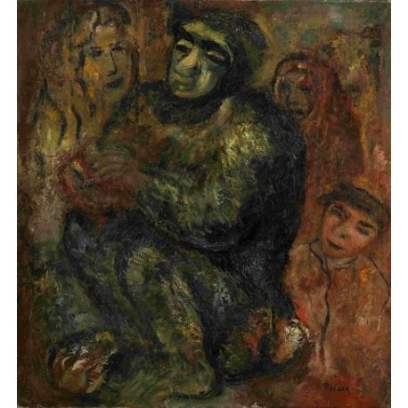 Gathering by Issachar Ber Ryback | Jewish Art Oil Painting Gallery
