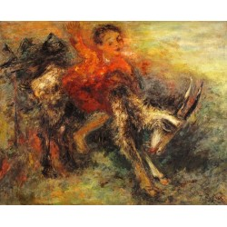 Child Riding a Goat by Issachar Ber Ryback Jewish Art Oil Painting Gallery
