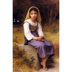 Meditation by William Adolphe Bouguereau -Art gallery oil painting reproductions