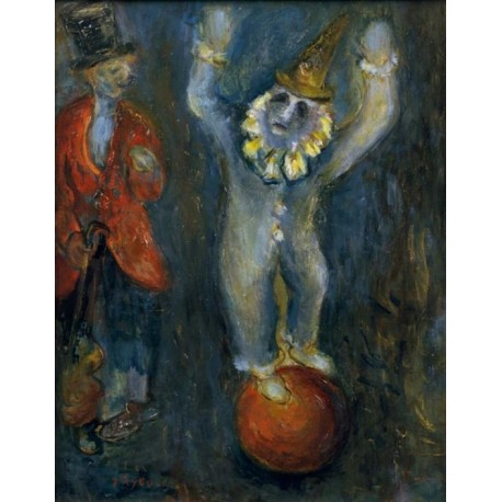 Clowns Equilibristes by Issachar Ber Ryback Jewish Art Oil Painting Gallery