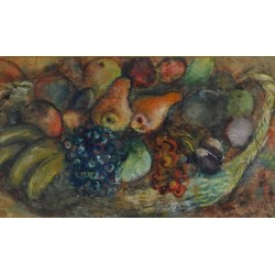 Fruit Basket by Issachar Ber Ryback Jewish Art Oil Painting Gallery